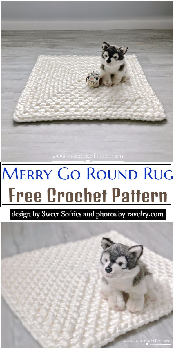 Merry Go Round Rug Crochet Pattern