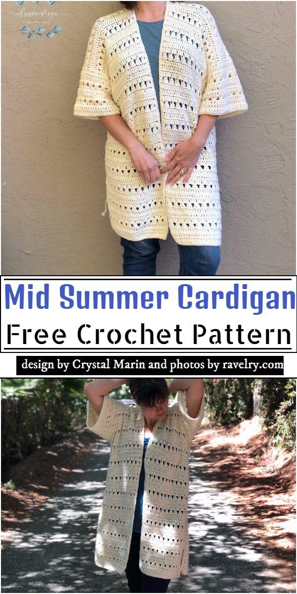 Mid Summer Cardigan Crochet Pattern