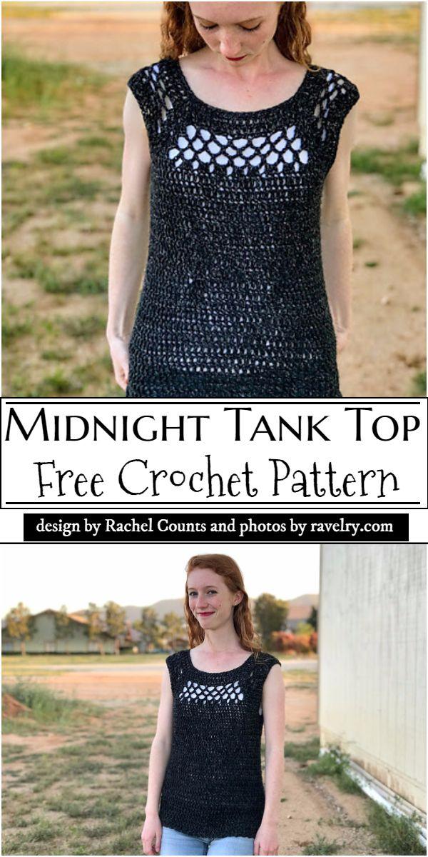 Midnight Tank Top Crochet Pattern