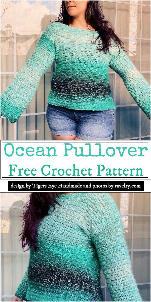 Ocean Pullover Crochet Pattern