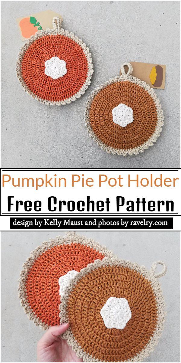 Pumpkin Pie Pot Holder Crochet Pattern