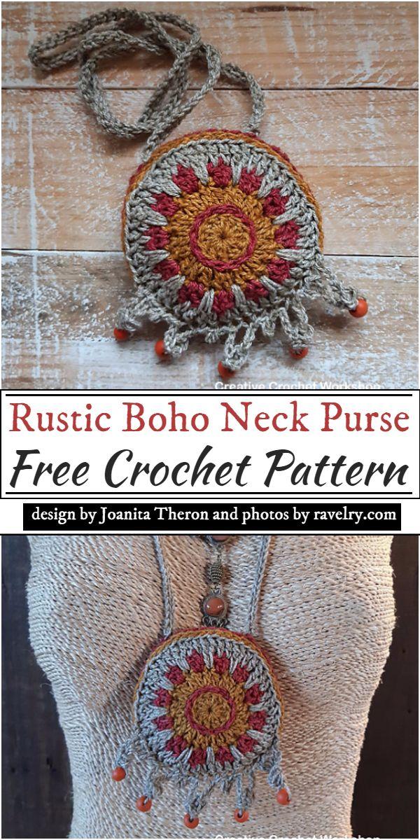 Rustic Boho Neck pattern for women's wear