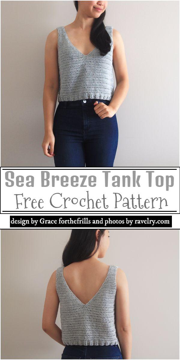 Sea Breeze Tank Top Crochet Pattern