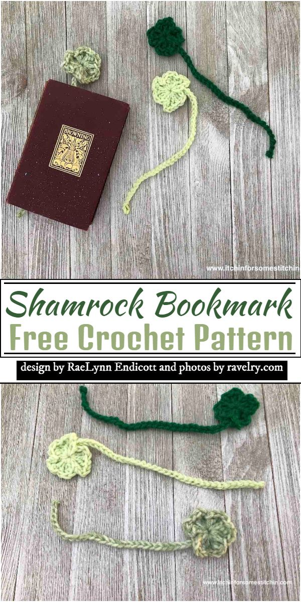 Shamrock Bookmark Crochet Pattern