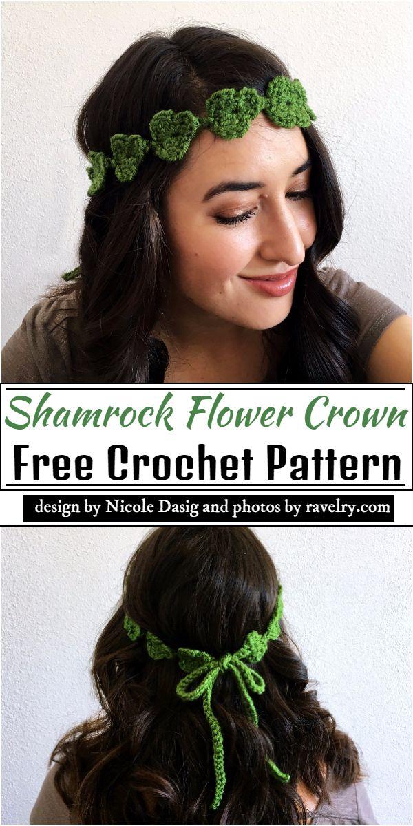Shamrock Flower Crown Crochet Pattern