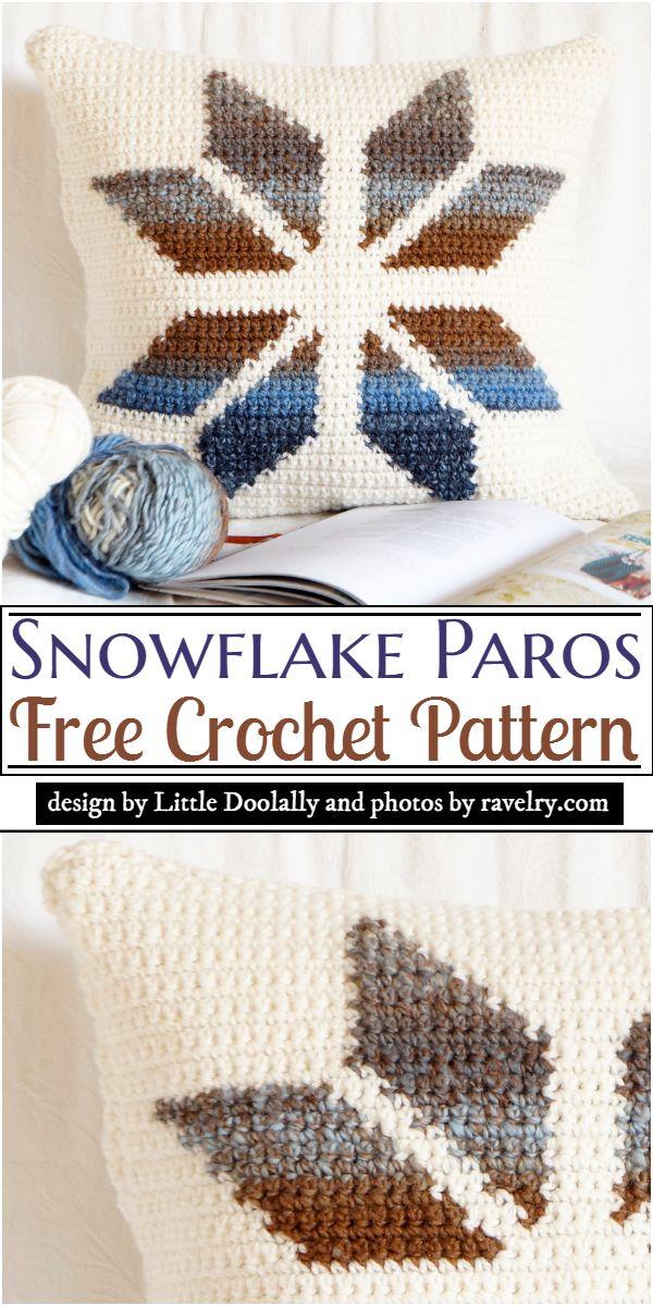Snowflake Cushion Crochet Pattern