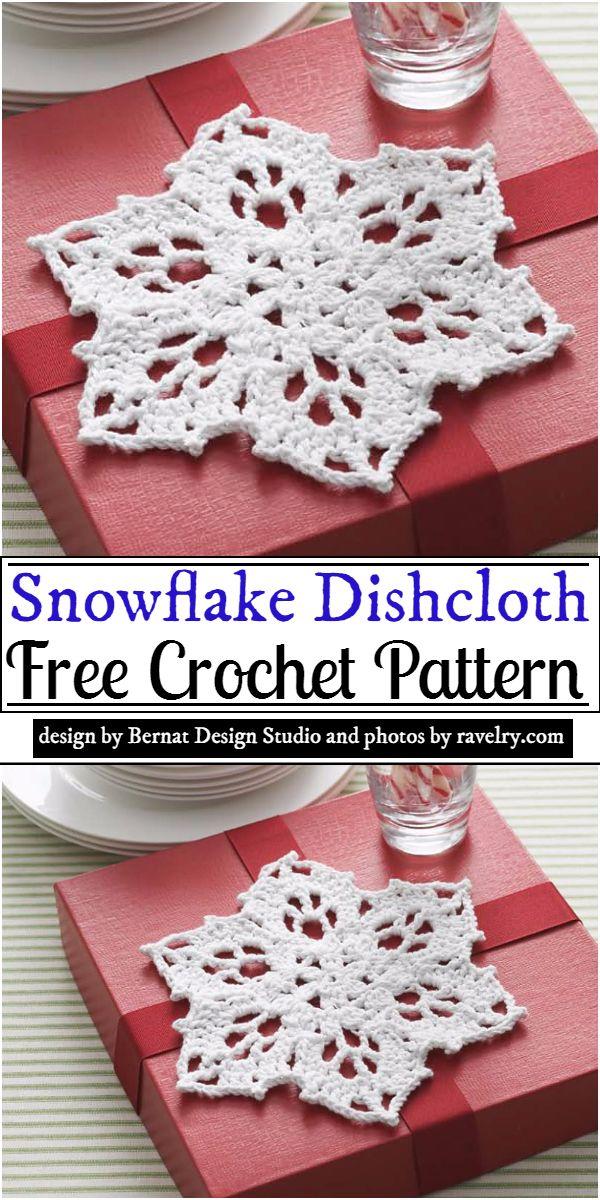 Snowflake Dishcloth Crochet Pattern