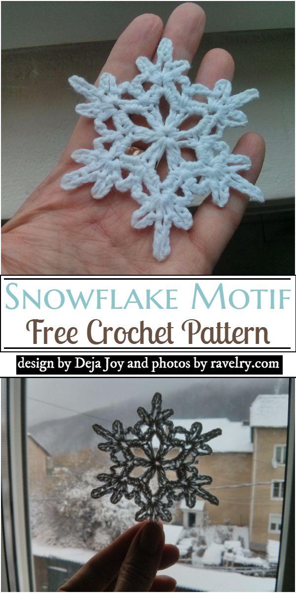 Snowflake Motif Crochet Pattern
