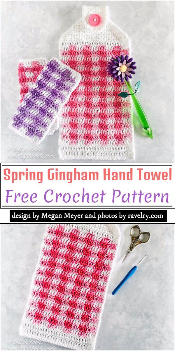 Spring Gingham Crochet Pattern