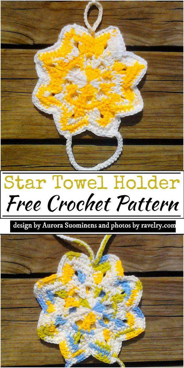 Star Towel Holder Crochet Pattern