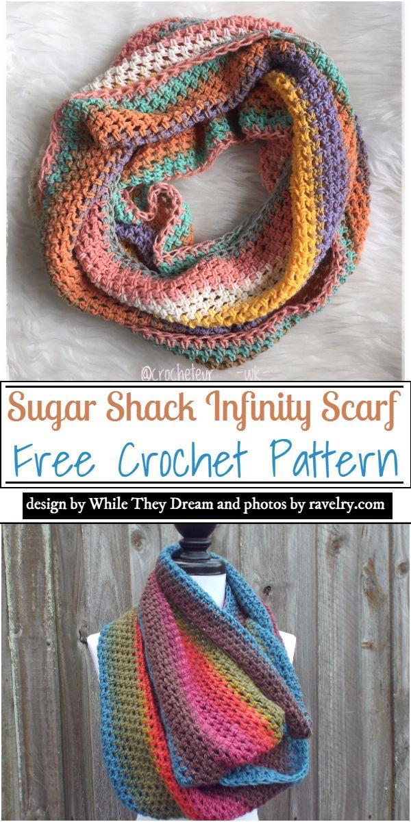 Sugar Shack Infinity Scarf Crochet Pattern