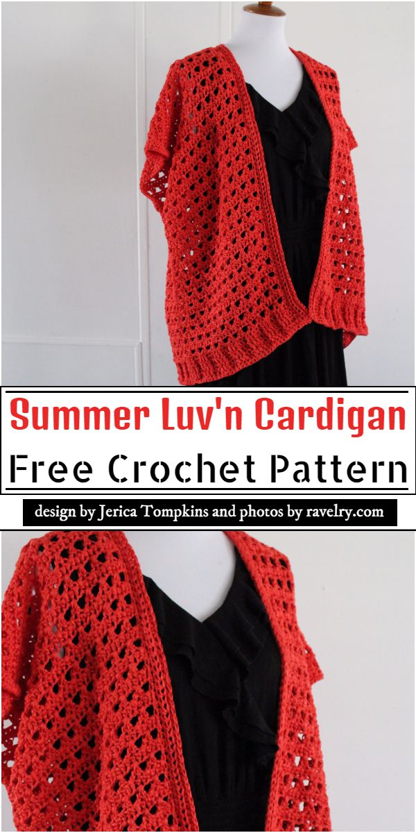 Summer Luv'n Cardigan Crochet Pattern