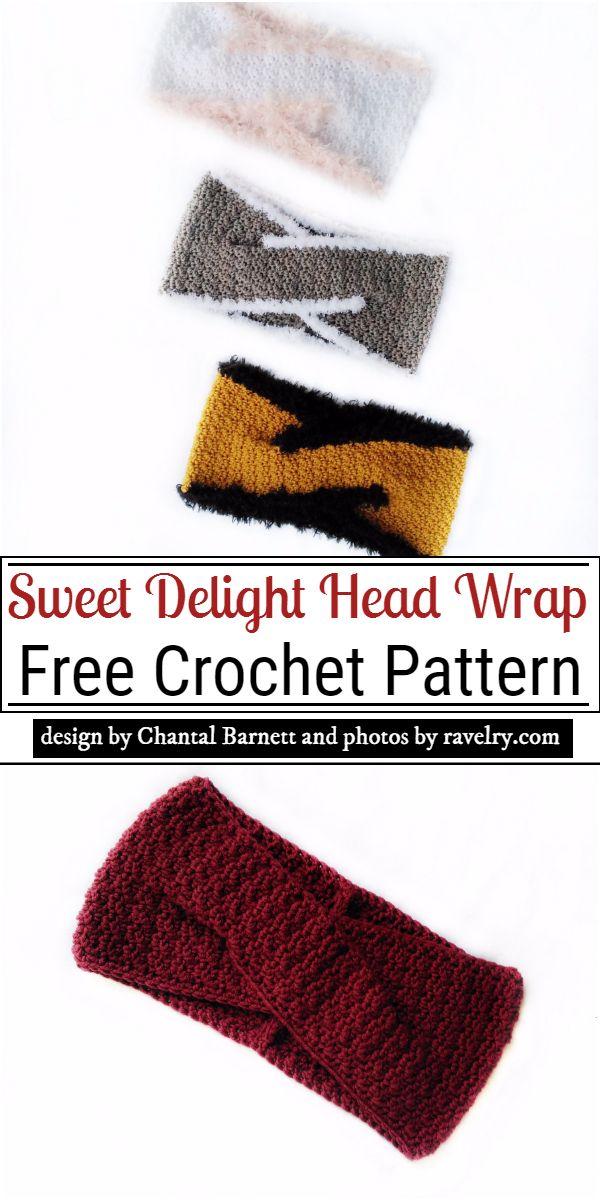 Sweet Delight Head Wrap Crochet Pattern