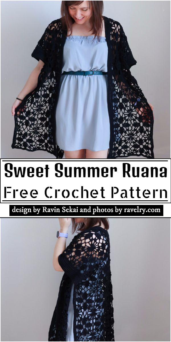 Sweet Summer Ruana Crochet Pattern
