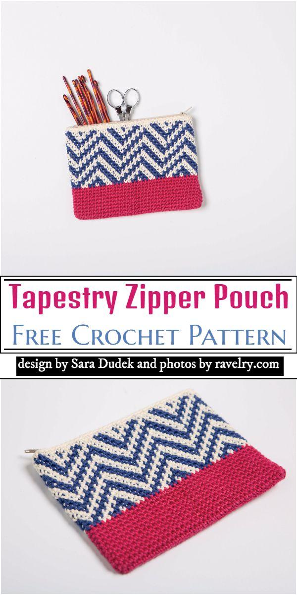 Tapestry Zipper Pouch Crochet Pattern