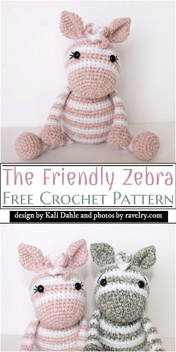 The Friendly Zebra Crochet Pattern