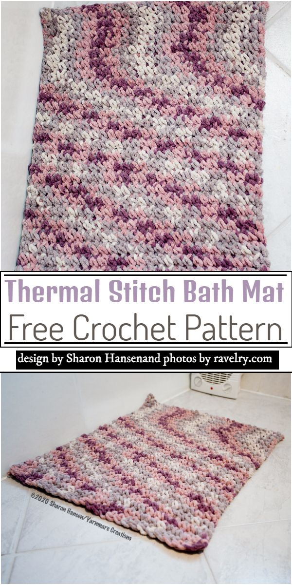 Free Crochet Bath Mat Patterns For Your Bathroom Crochet Patterns