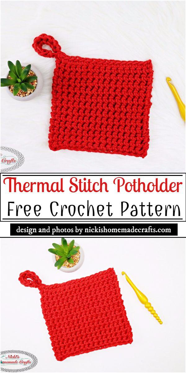 Thermal Stitch Crochet Potholder Pattern