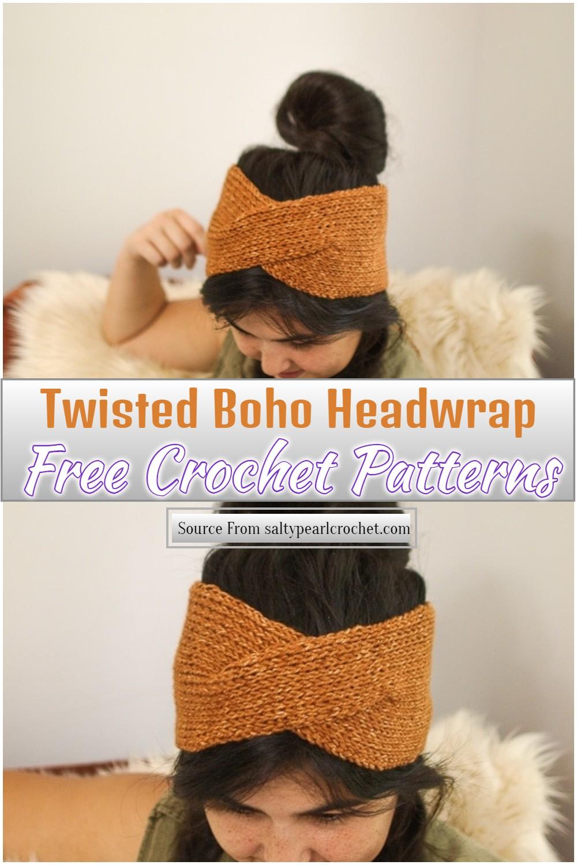 Twisted Boho Crochet Headwrap Pattern