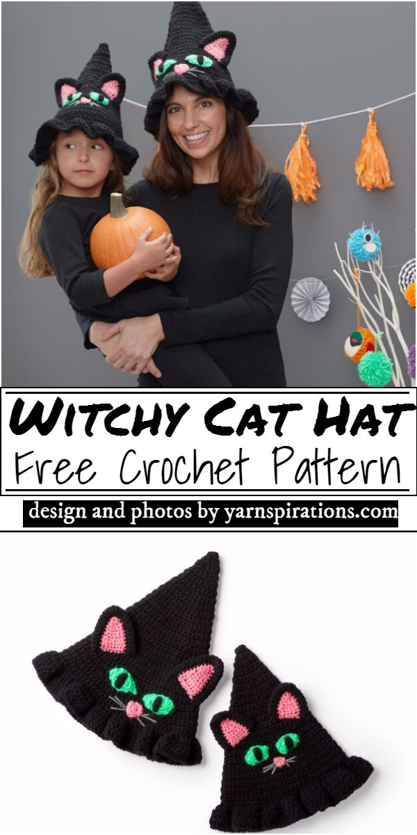 Witchy Cat Hat Crochet Pattern