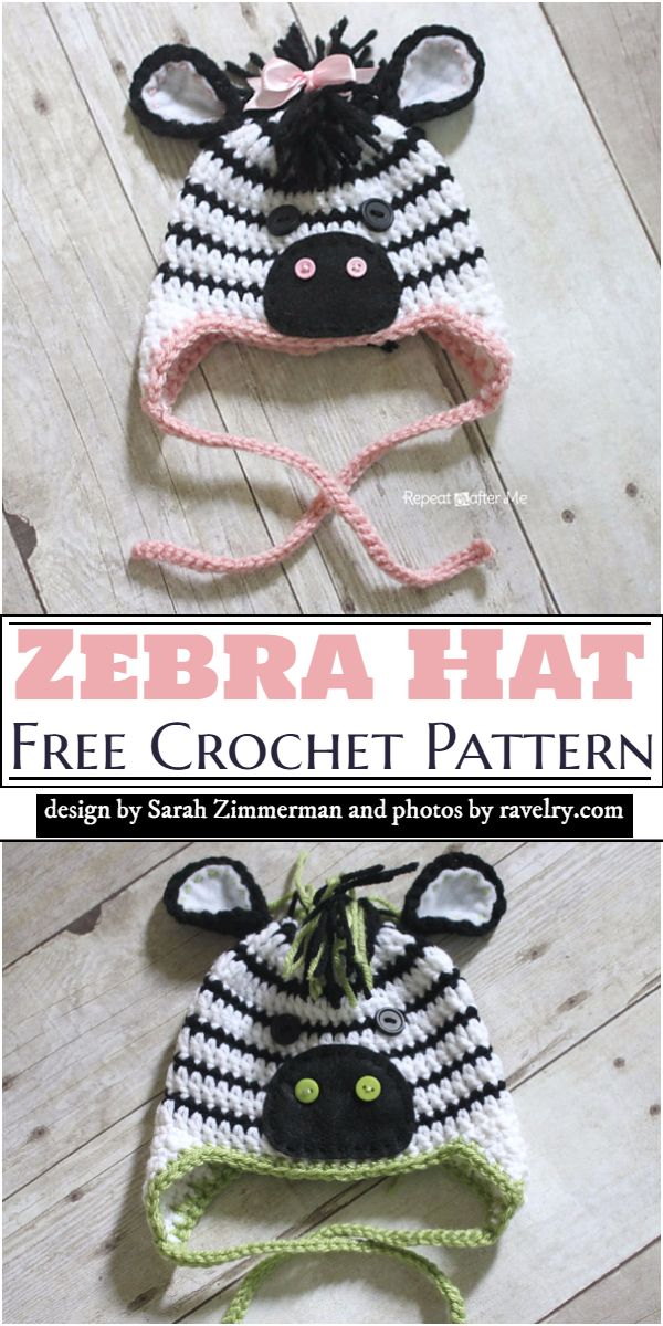 Zebra Hat Crochet Pattern
