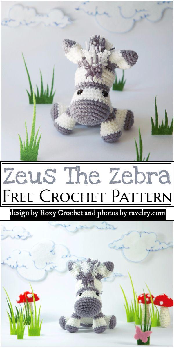 Zeus The Zebra Amigurumi