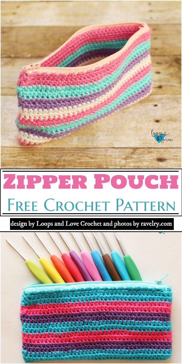 Zipper Pouch Crochet Pattern