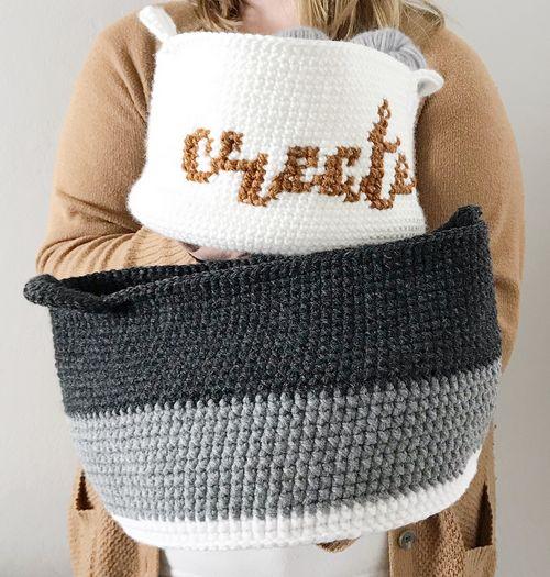 A Simple Basket Crochet Pattern