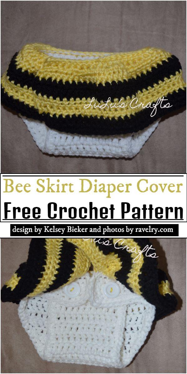 Bee Skirt Diaper Cover Crochet Pattern