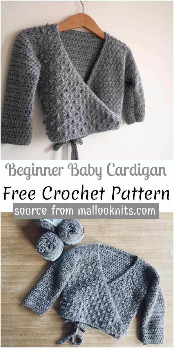 Beginner Baby Cardigan Crochet Pattern