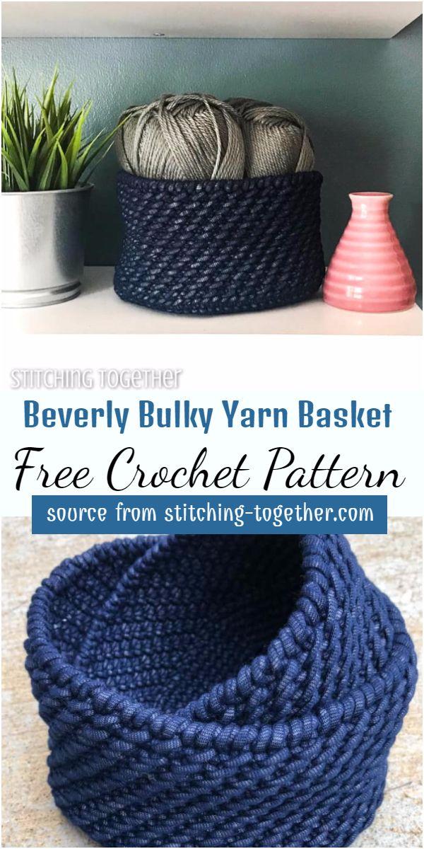 Beverly Bulky Yarn Basket Crochet Pattern