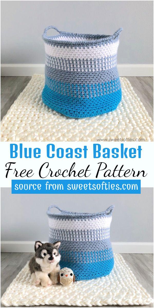 Blue Coast Basket Crochet Pattern