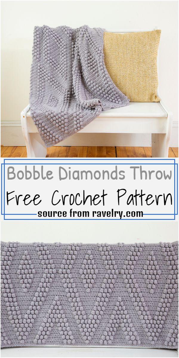 Diamonds Throw Pattern