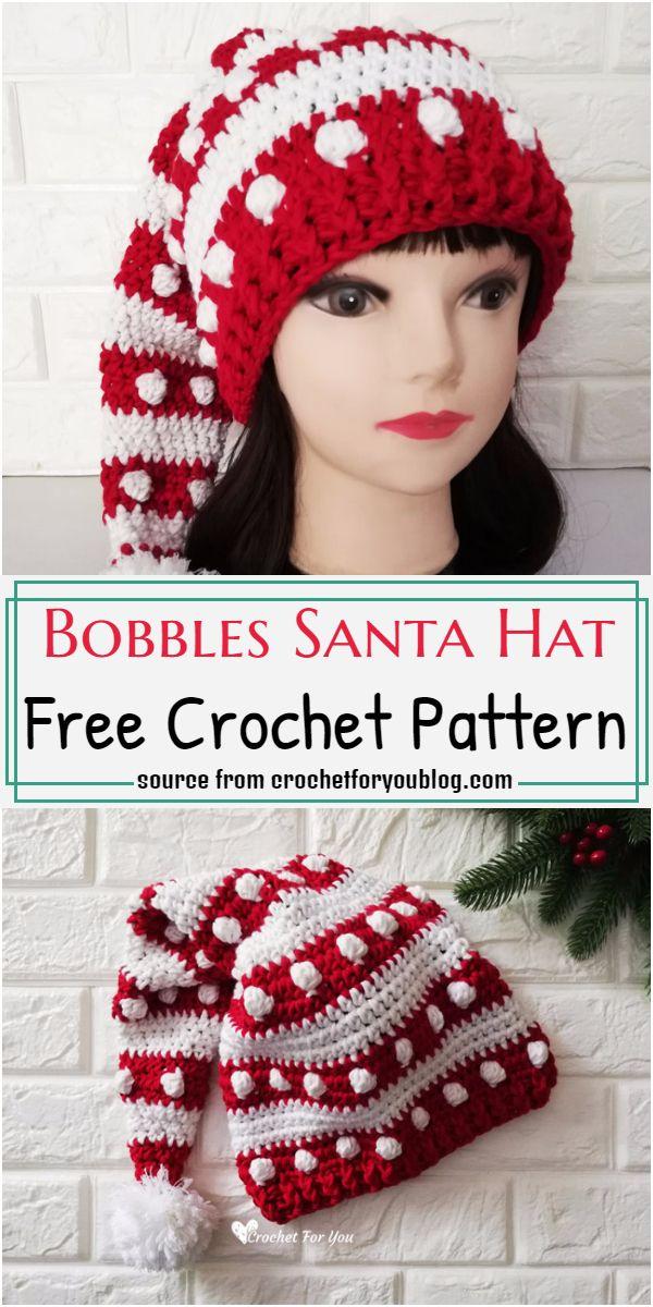 Bobbles Santa Hat Crochet Pattern