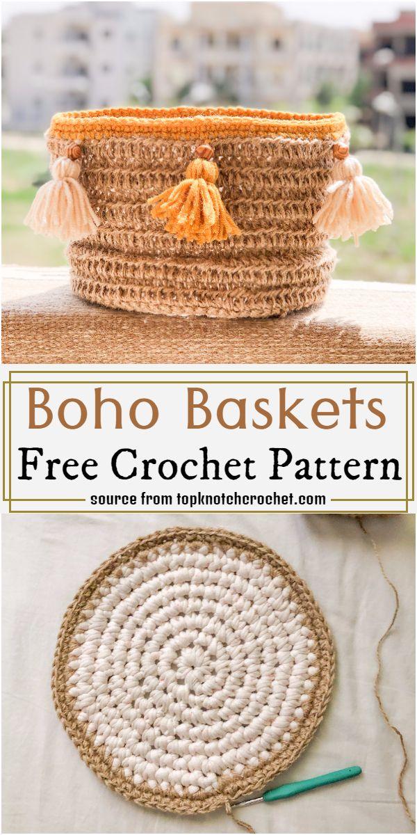 Boho Baskets Crochet Pattern