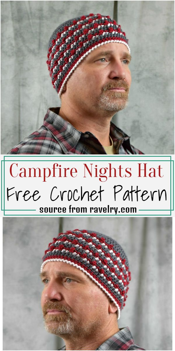 Free Crochet Men Hat Pattern