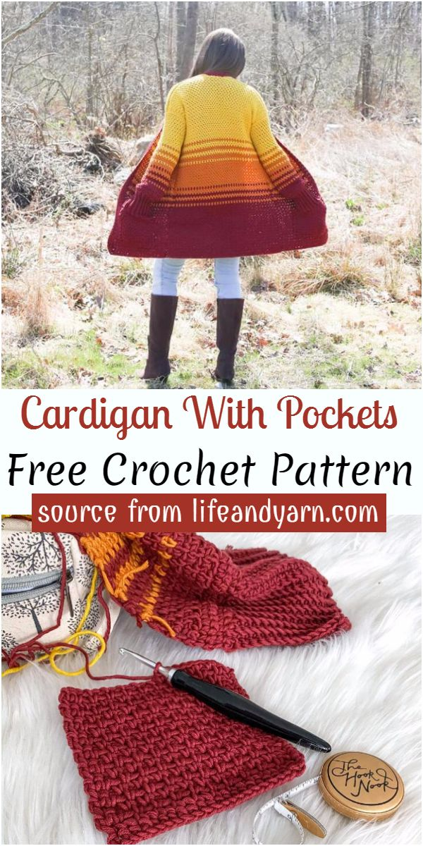 Cardigan With Pockets Crochet Pattern