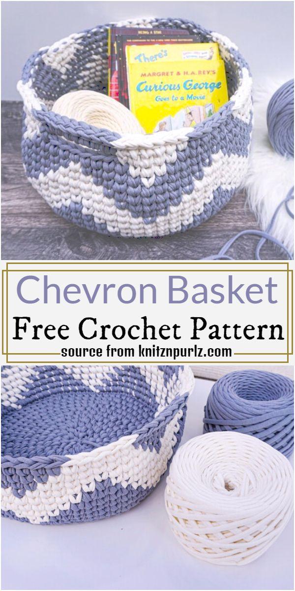 Chevron Basket Crochet Pattern