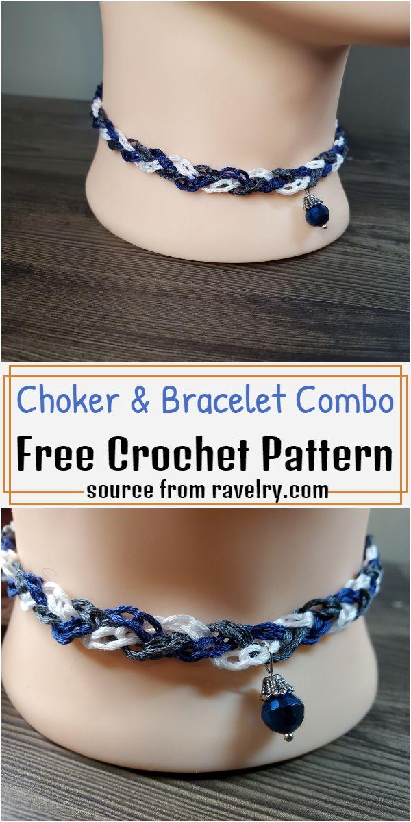 Choker & Bracelet Combo Crochet Pattern