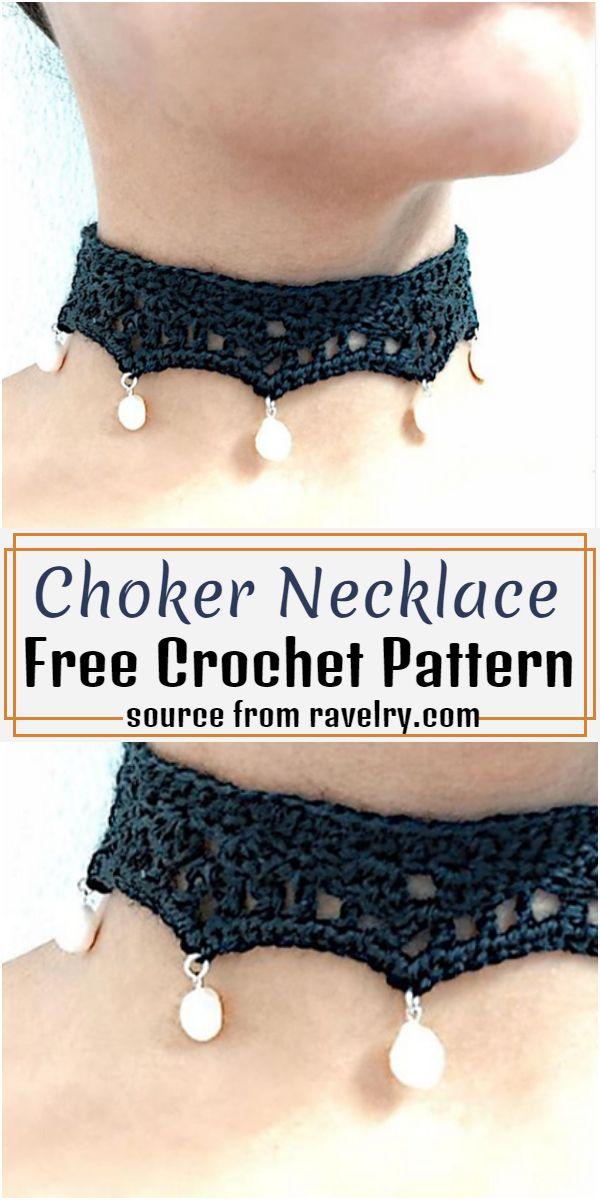 Choker Necklace Crochet Pattern