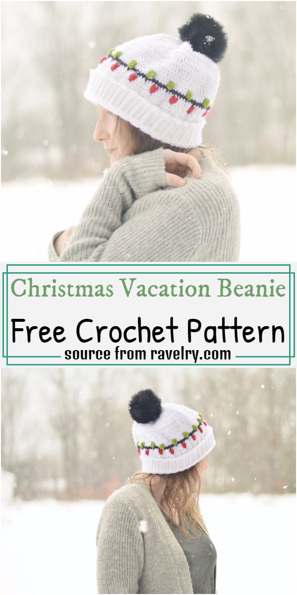 Christmas Vacation Beanie Crochet Pattern