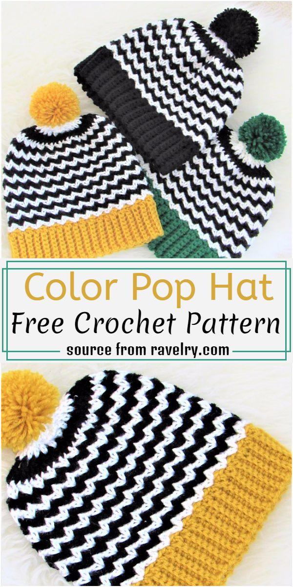 Color Pop Hat Crochet Pattern