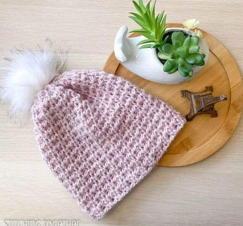 Courtney Beanie Hat Crochet Pattern