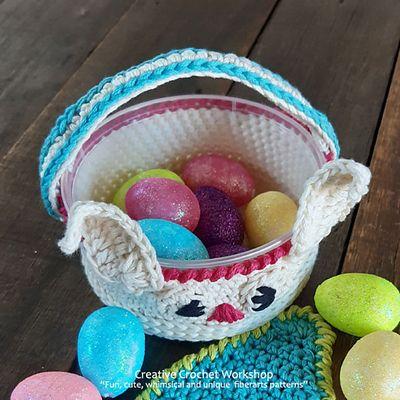Cute Bunny Basket Crochet Pattern