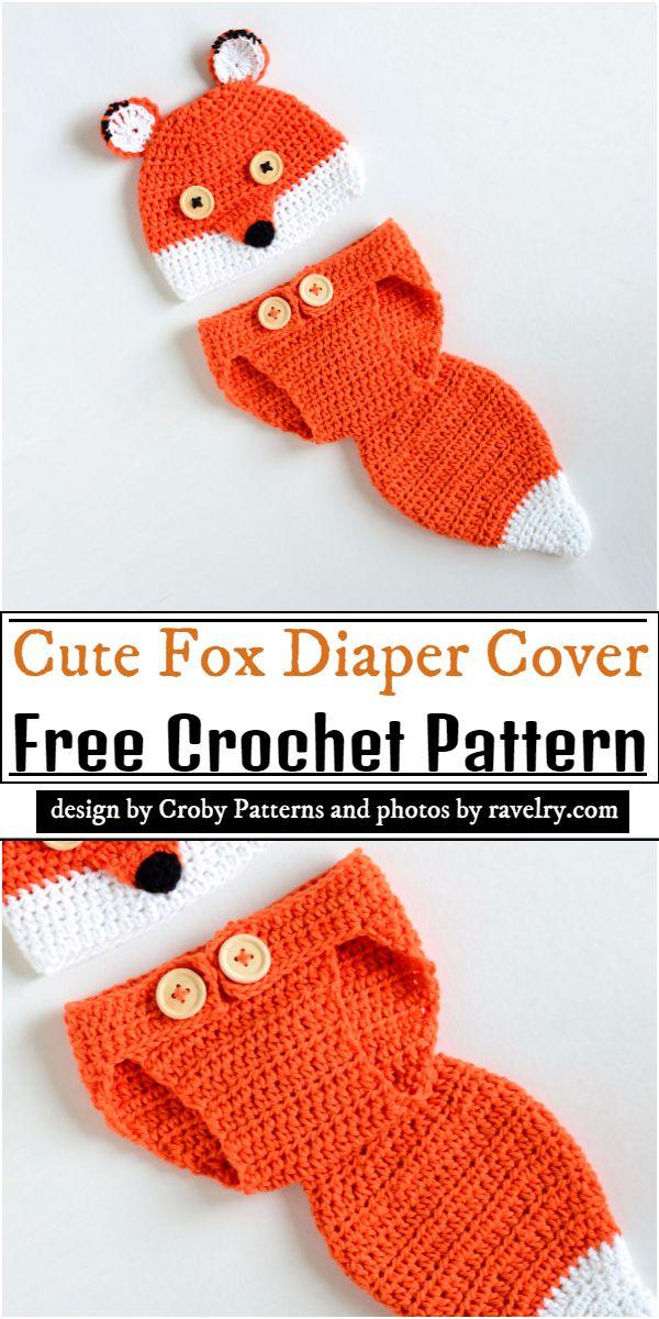 Cute Fox Diaper Cover