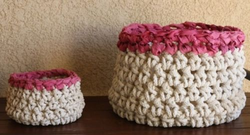 Easy Crochet Basket With Craft Cord