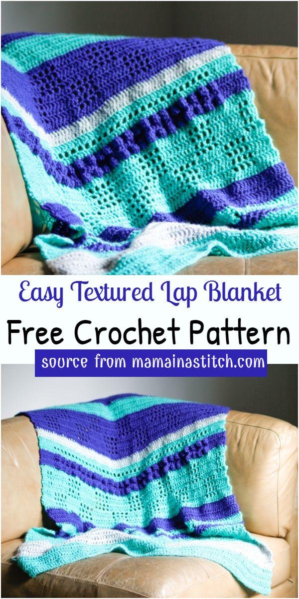 Easy Textured Lap Blanket Crochet Pattern