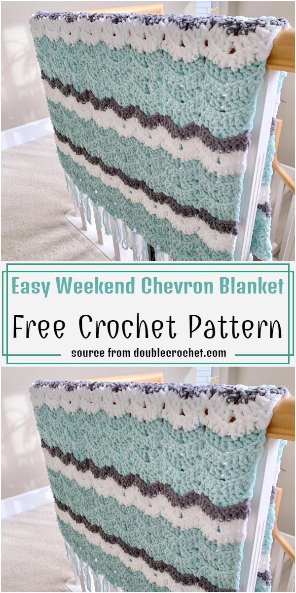 Easy Weekend Chevron Blanket Pattern
