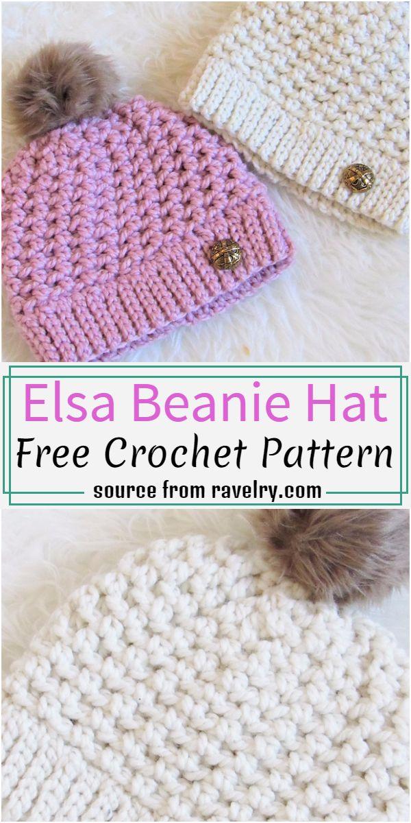 Elsa Beanie Hat Crochet Pattern