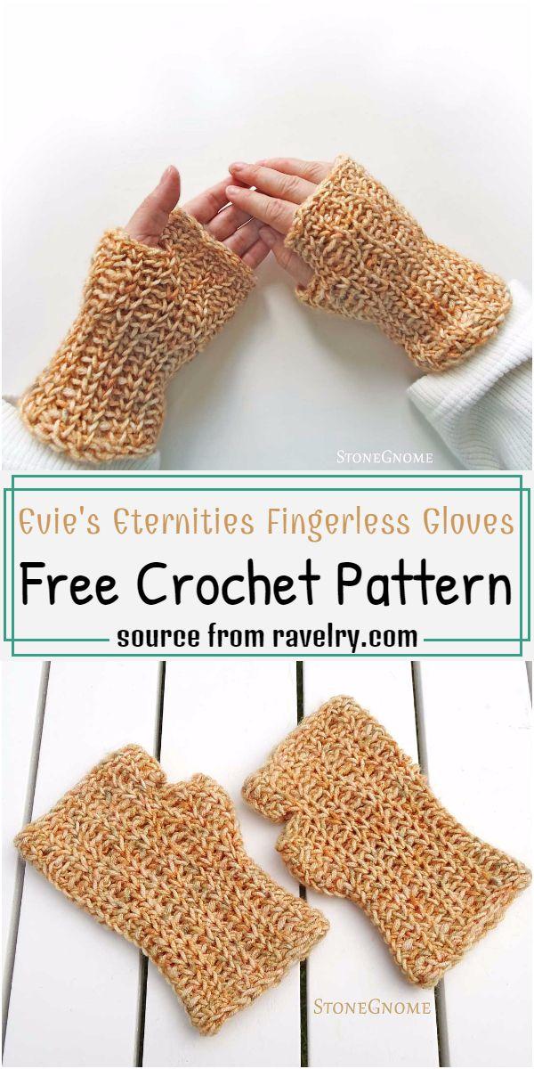 Evie's Eternities Fingerless Gloves Crochet Pattern